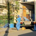 不用品と引越の回収風景