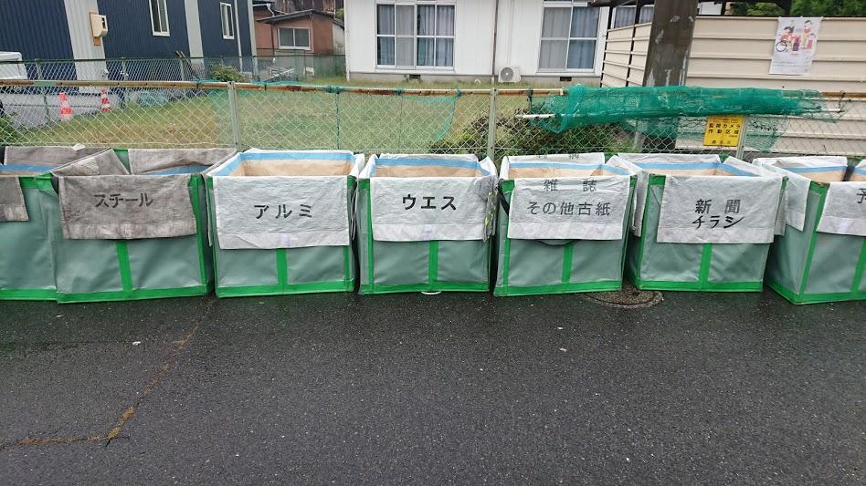 リサイクルごみ回収ボックス